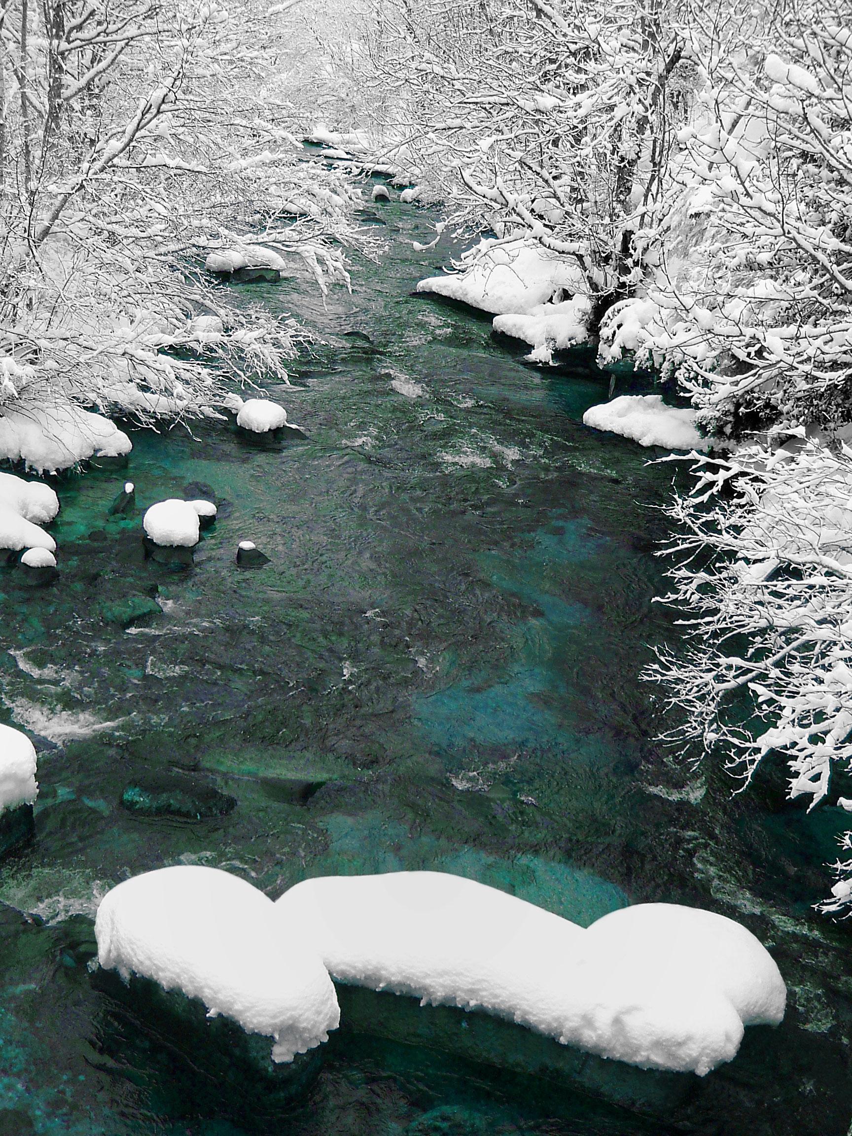 Río Hijar nevado